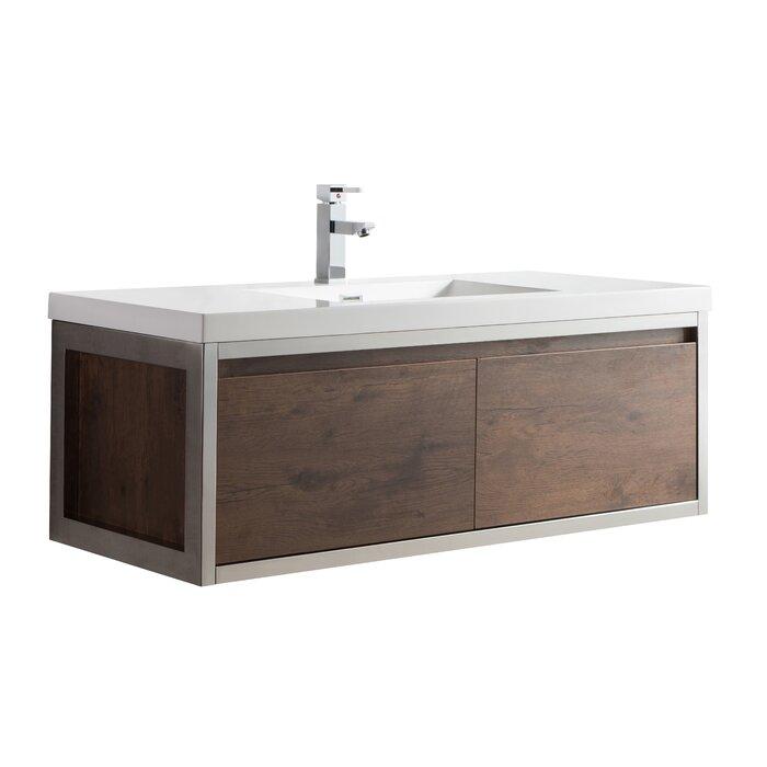 Sandra 48 Wall Mounted Single Bathroom Vanity Set
