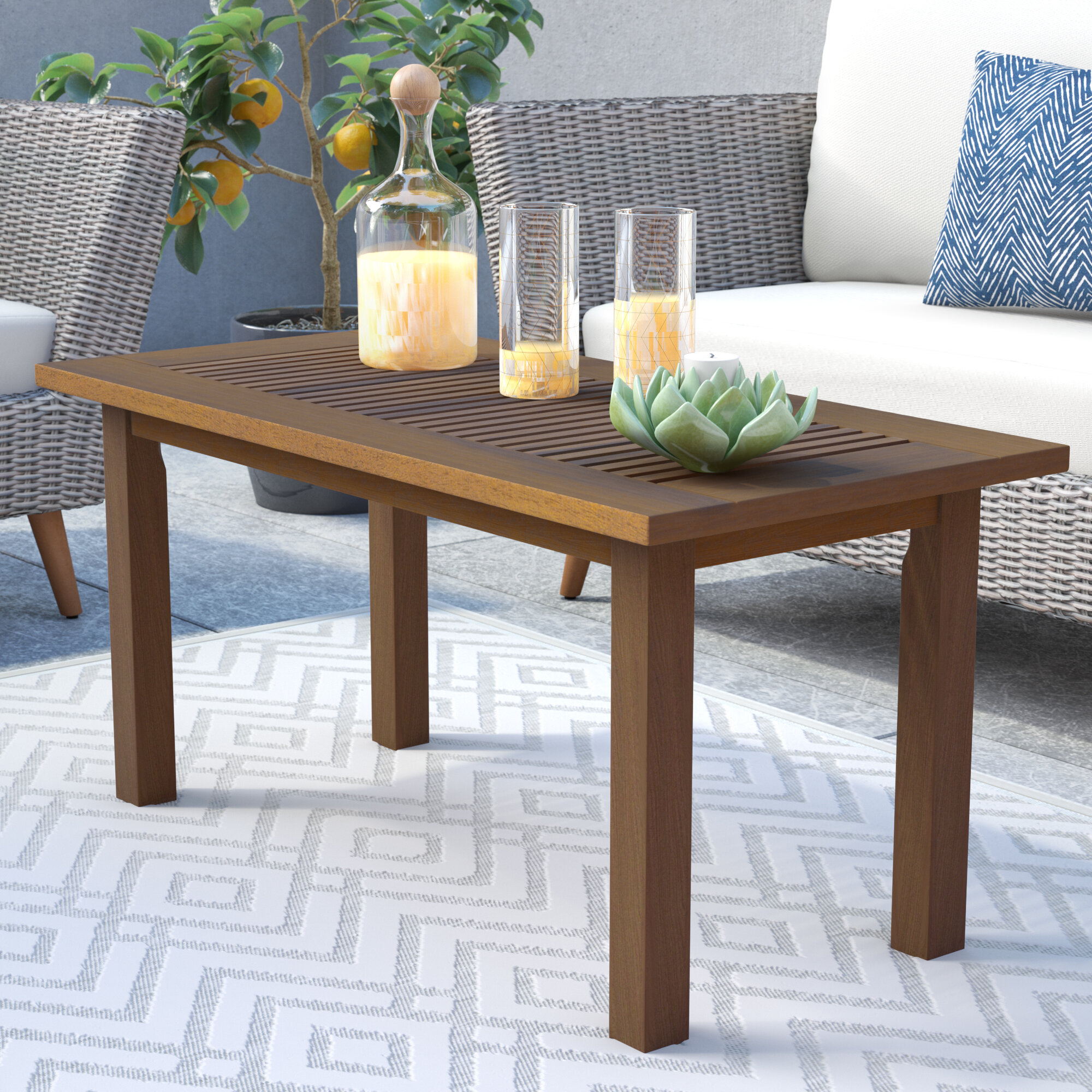 George Oliver Arianna Teak Coffee Table Reviews Wayfair Co Uk