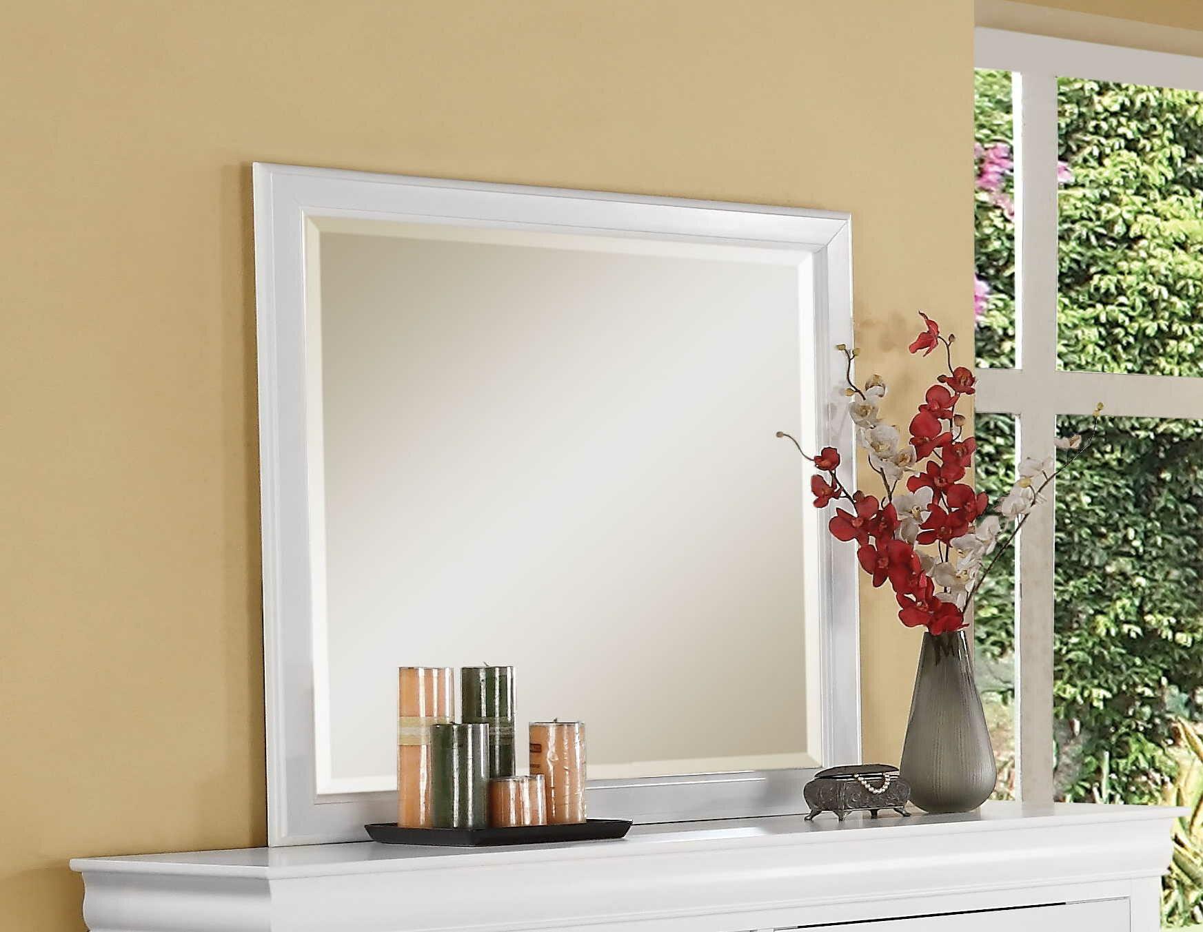 Red Barrel Studio Brodeur Traditional Dresser Mirror Reviews Wayfair