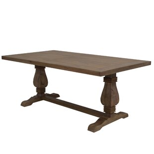 Gracie Oaks Ponder Solid Wood Dining Table