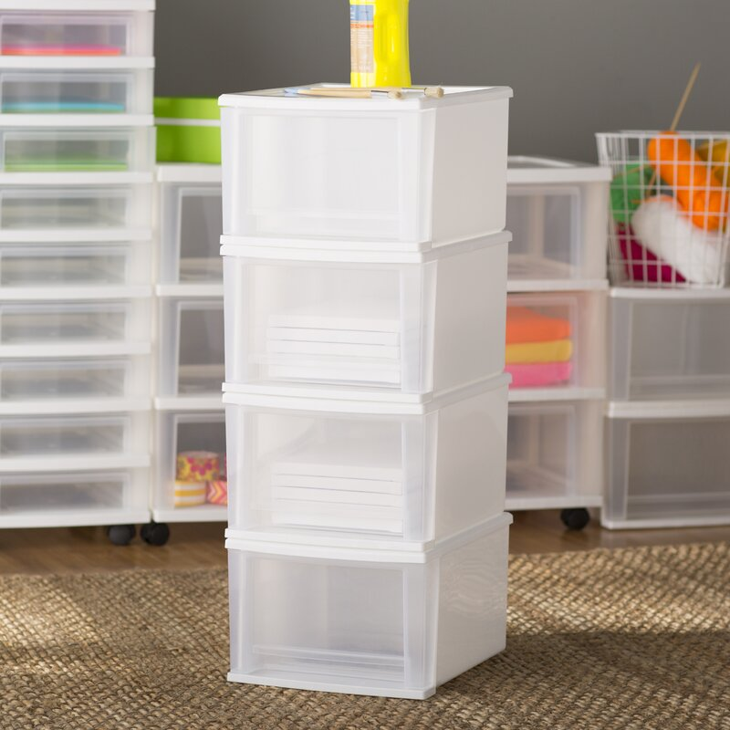 Wayfair Basics Stackable Storage Drawers Reviews Wayfair