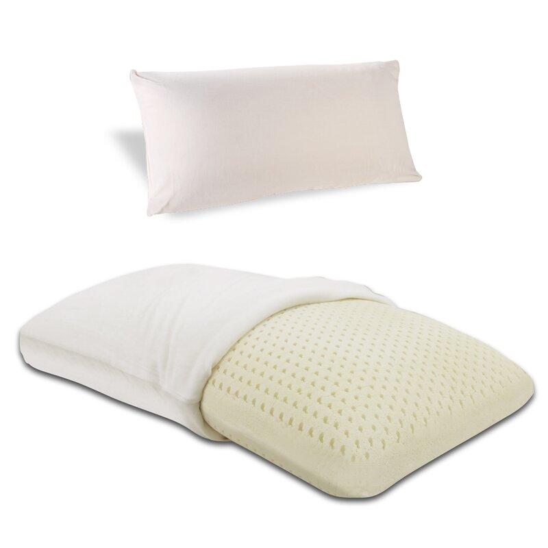 embrace firm 100 percent ventilated dunlop latex foam pillow