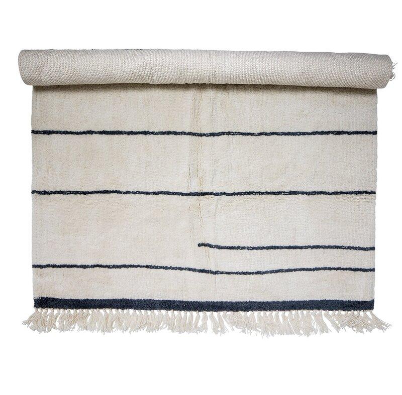 Norberg Wool White Blue Area Rug Allmodern