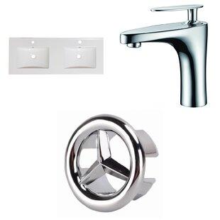Xena Ceramic 59 Double Bathroom Vanity Top by Royal Purple Bath Kitchen