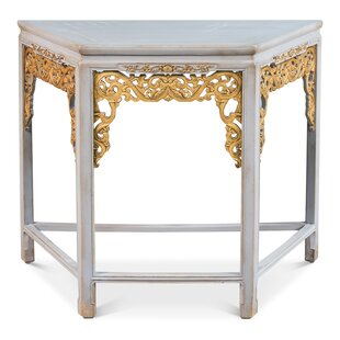 Sarreid Ltd Short Carved Fretwork Console Table