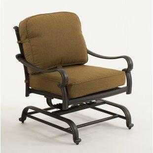 Fleur De Lis Living Burman Spring Patio Chair with Cushion (Set of 2)