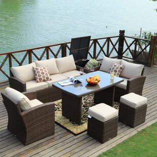 Benedetti 7 Piece Rattan Sofa Seating Group with Cushions