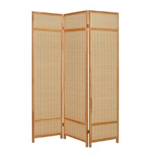 72 x 52 Pine Layered 3 Panel Room Divider by Screen Gems