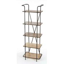Admirable Metal Wood Shelf by Benzara