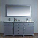Pryor 72 Double Bathroom Vanity Set with Mirror by Andover Mills