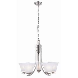 Ebern Designs Bendigo 5-Light Shaded Chandelier