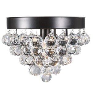 Gustave 1-Light Crystal Ceiling Flush Mount