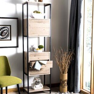 17 Stories Saucier Mid Century Wood Etagere Bookcase