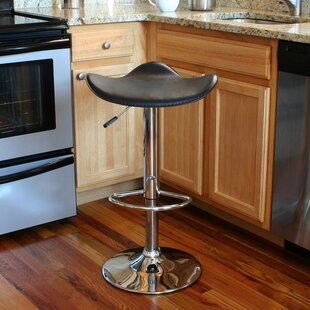 Check Prices Laurendeau Adjustable Height Swivel Bar Stool by Ebern Designs Reviews (2019) & Buyer's Guide