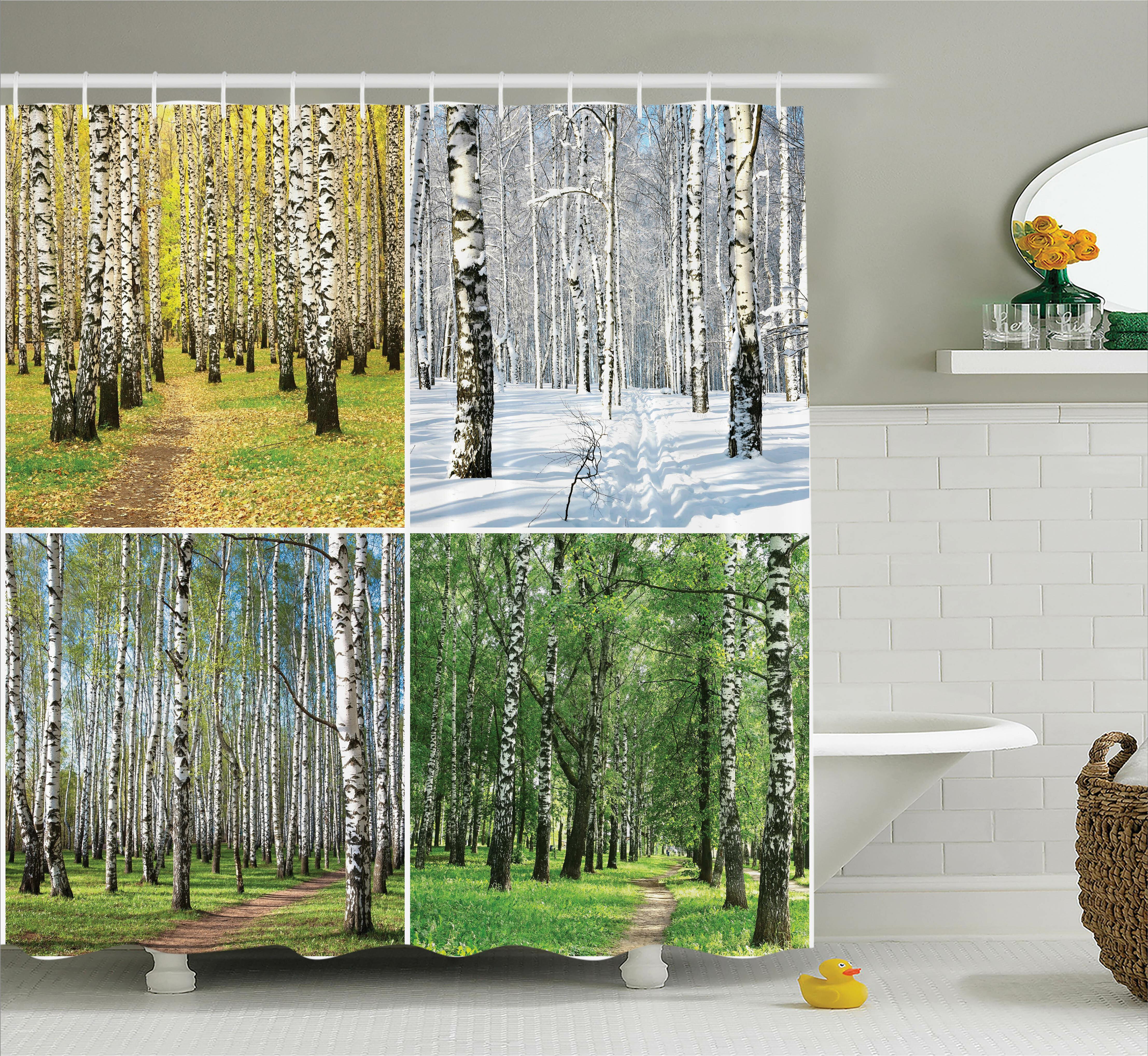 72x72/'/' Cute Fluffy four floret cats Bathroom Shower Curtain Waterproof Fabric