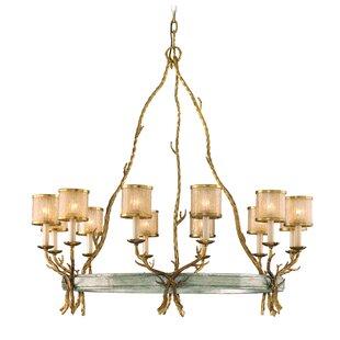 Corbett Lighting Parc Royale 12-Light Shaded Chandelier