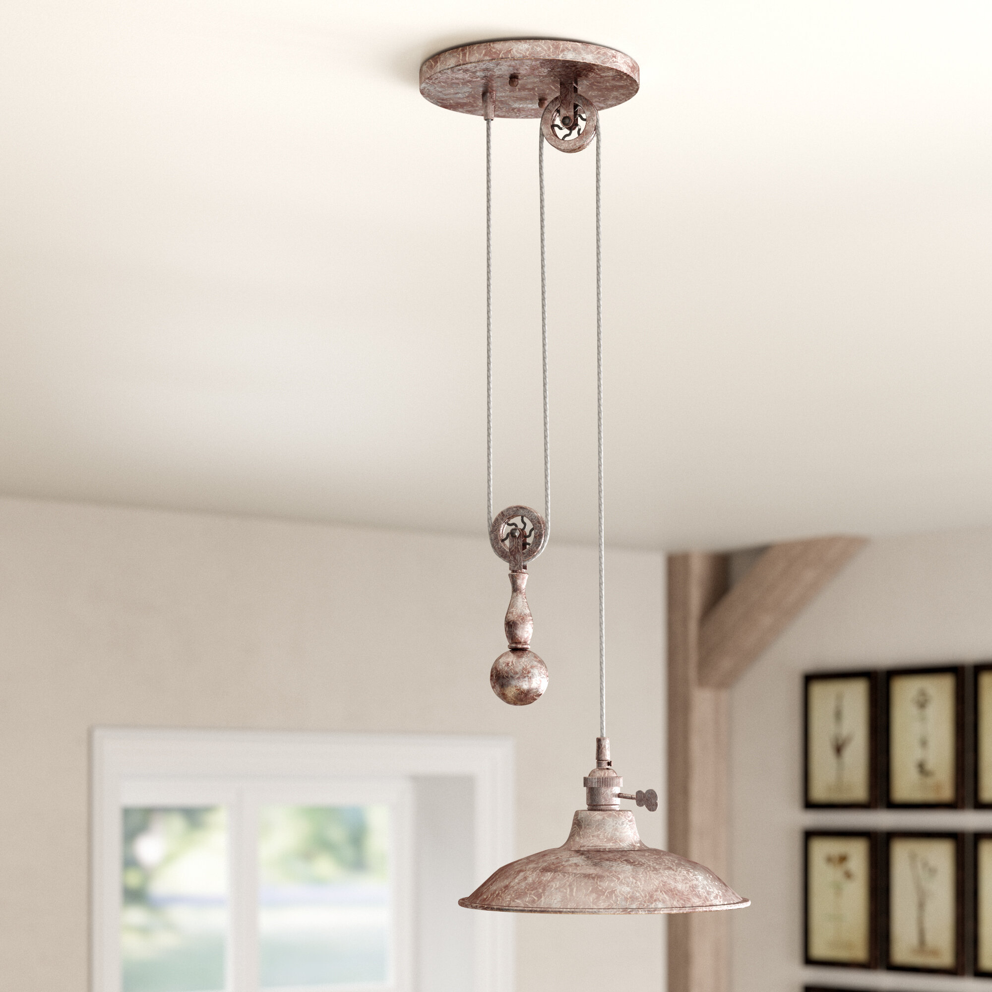 Rolland 1 Light Single Dome Pendant Reviews Birch Lane