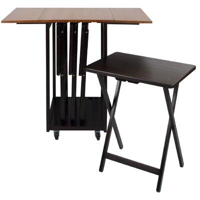 Red Barrel Studio Dziedzic Drop Leaf Table With Tv Tray