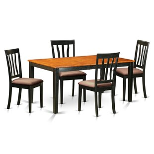 5 Piece Extendable Dining Set by East West Furniture Cool