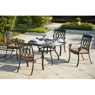 Astoria Grand Melchior 5 Piece Dining Set with Cushions
