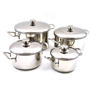 Rainbow Elite Professional Grade 8 Piece Stainless Steel Cookware Set