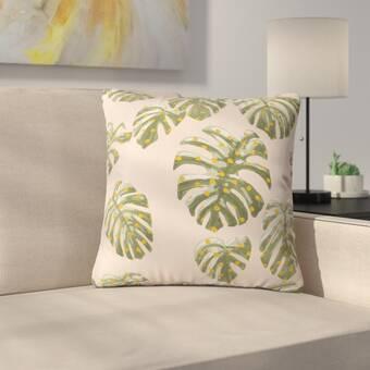 East Urban Home Palm Oasis Indoor Outdoor Throw Pillow Wayfair