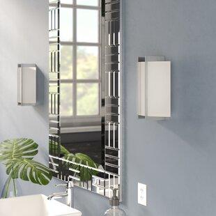 Savings Cornelia Linear 1-Light Wall Sconce in Polished Steel By Zipcode Design