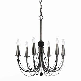 Candice olson chandelier wayfair shelby 6 light candle style chandelier aloadofball Gallery