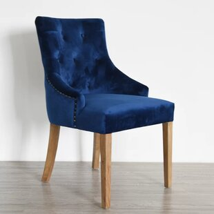 Dormody Velvet Upholstered Dining Chair b..
