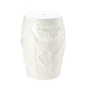Charlton Home Askew Horses Ceramic Garden Stool