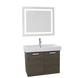 Liberatore 39 WallMounted Single Bathroom Vanity Set with Mirror