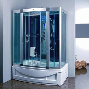 59 X 845 Rectangle Sliding Steam Shower With Base Included
