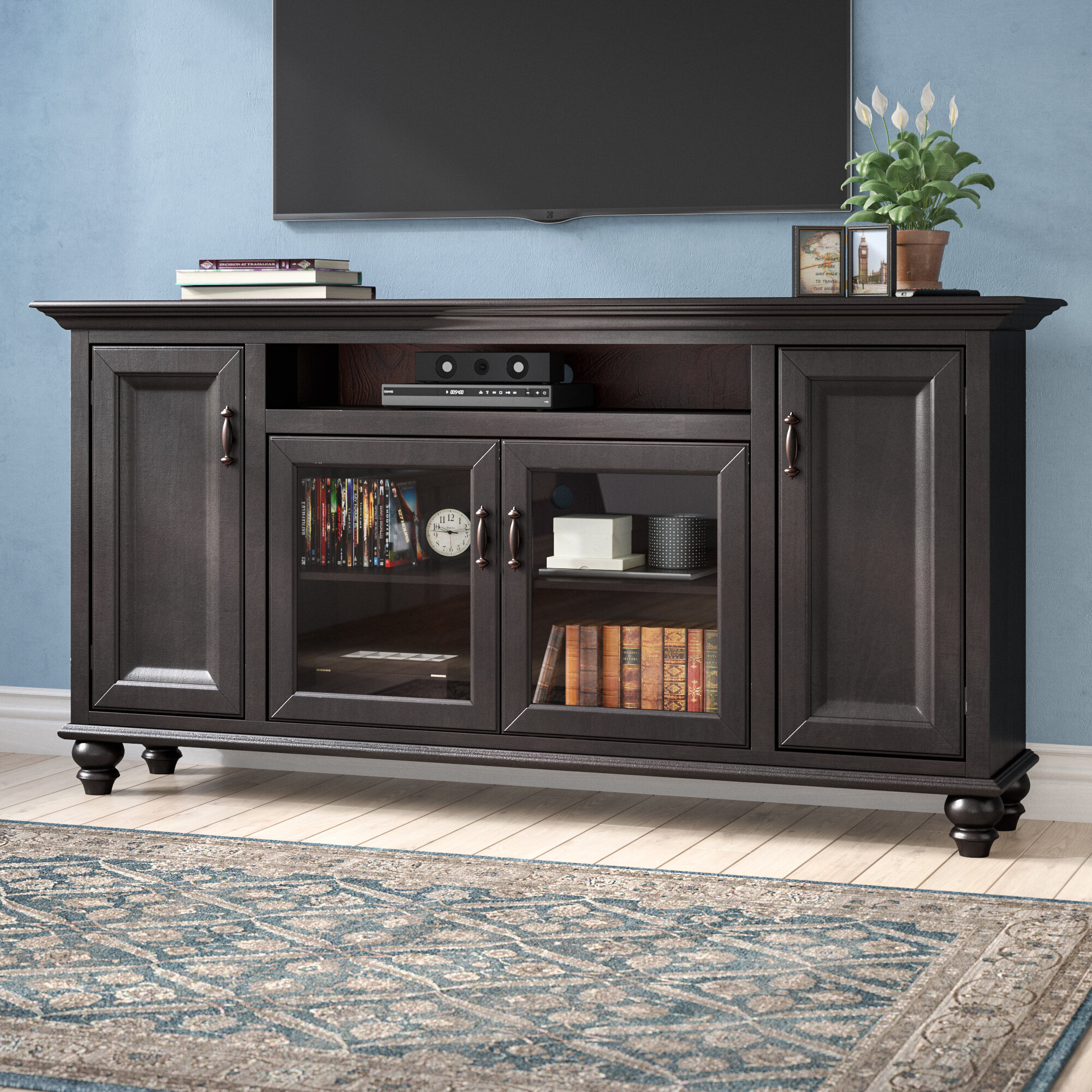 Home Staging Meuble Tv velarde solid wood tv stand for tvs up to 78""