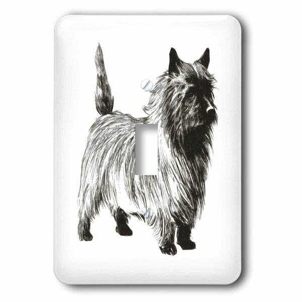 CAIRN TERRIER Gray Dog Green Gift Box Holiday Christmas ORNAMENT