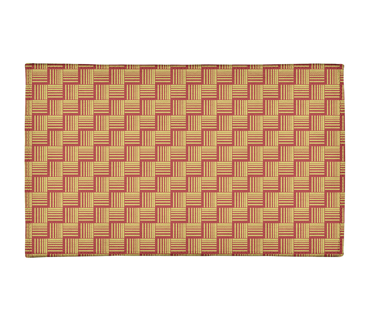 East Urban Home Basketweave Stripes Yellow Orange Area Rug Wayfair
