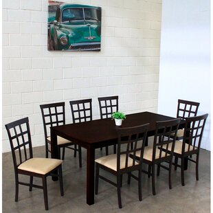 Justin 9 Piece Solid Wood Dining Set Warehouse of Tiffany