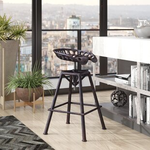 Rainbow Ridge Metal Adjustable Height Swivel Bar Stool