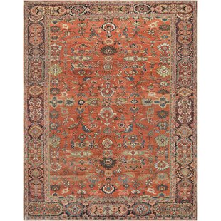 One-of-a-Kind Antique Sultanabad Handwoven Wool Red Indoor Area Rug by Mansour
