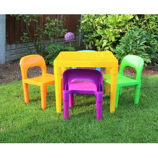 Villegas Children's 5 Piece Table And Chair Set By Isabelle & Max