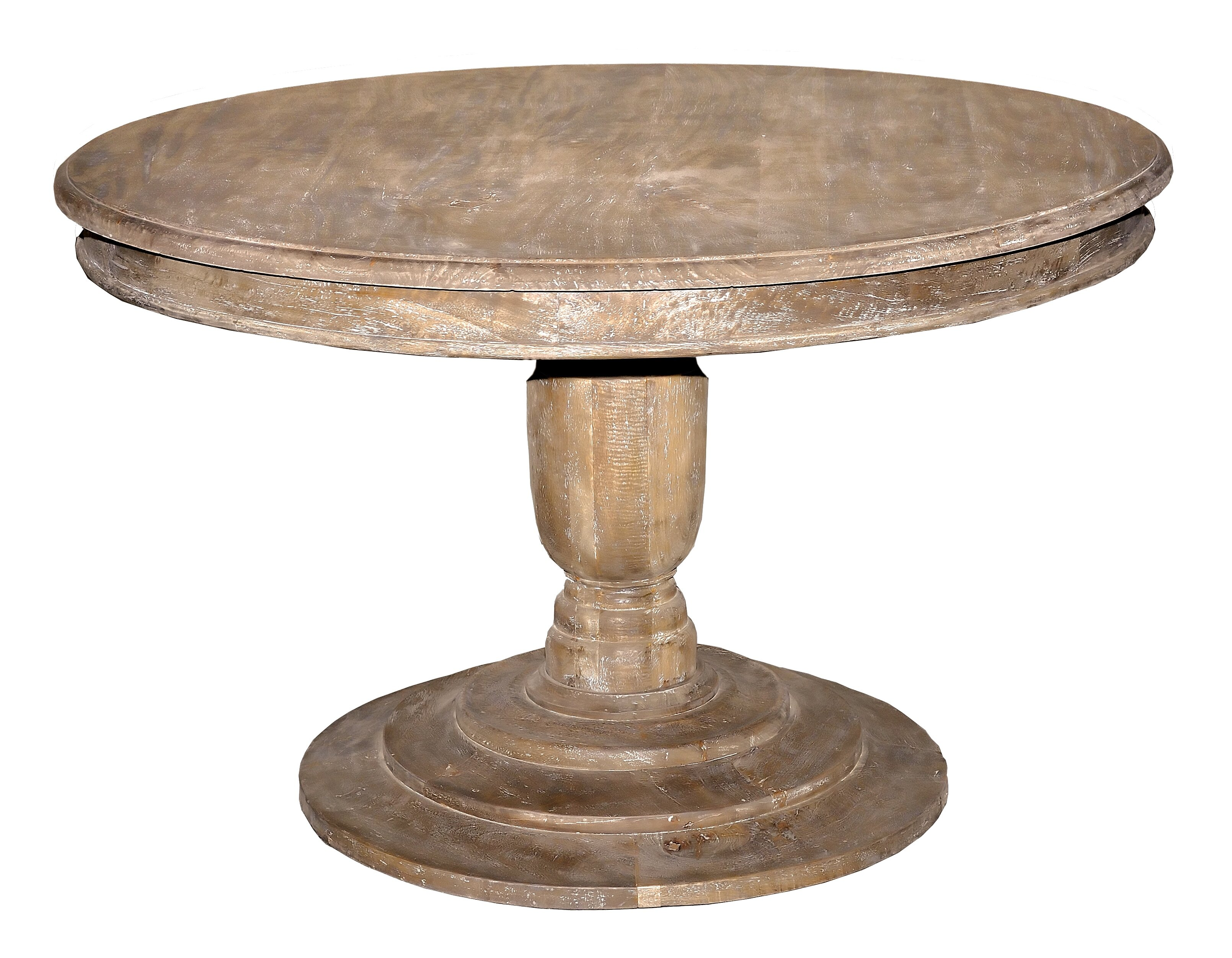 Casual elements jackie round pedestal 4 ft dining table for Round table 85 ortenau