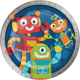 Robot Party Paper Plate (Set of 24)