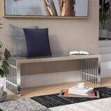 Gunnar Stainless Steel Bench