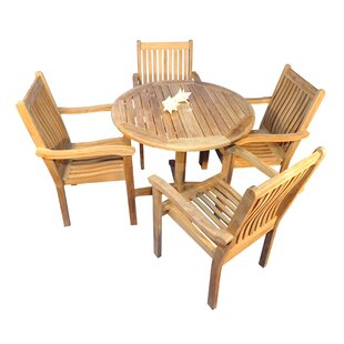 Regal Teak Virginia 5 Piece Teak Dining Set