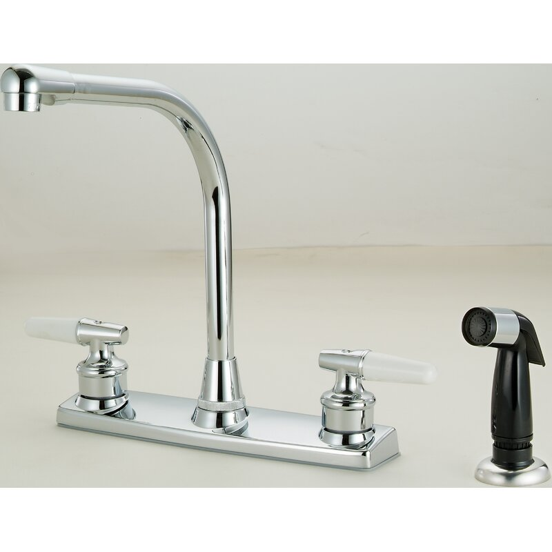 Hardware House Double Handle Kitchen Faucet With Side Spray Wayfair