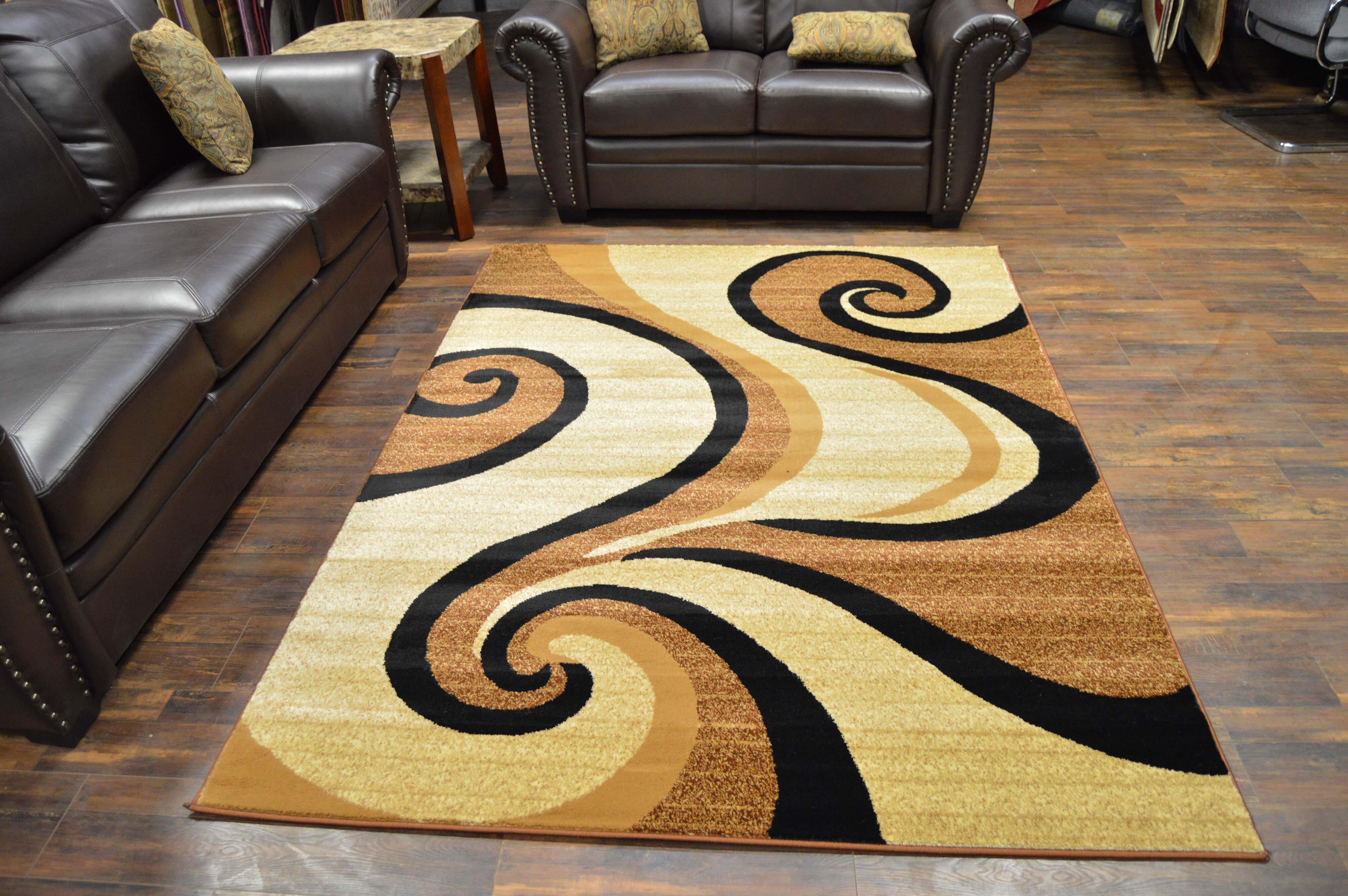 Ebern Designs Wargo Abstract Beige Brown Area Rug Wayfair
