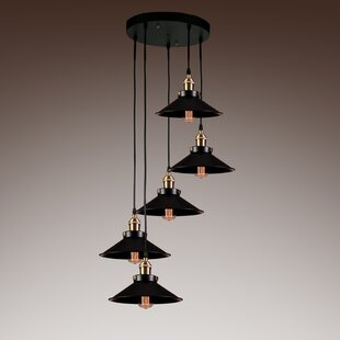 Sonia 5-Light Cluster Pendant by 17 Stories