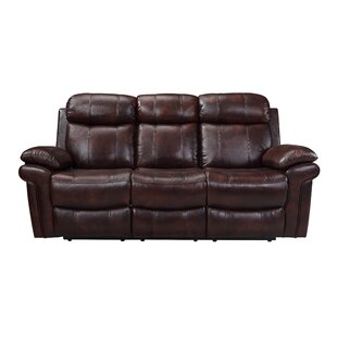 Asbury Leather Reclining Sofa ..