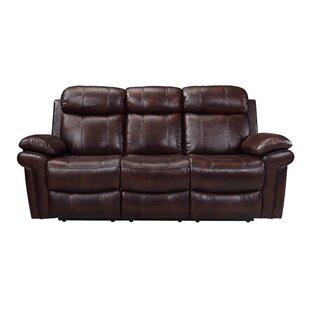 Asbury Leather Reclining Sofa by Red Barrel Studio