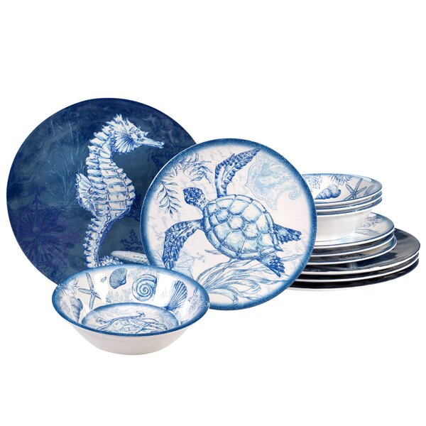 Creatable Mediterranean Dinner Set Single Set Combi Service Dinnerware 4 Pieces Stoneware