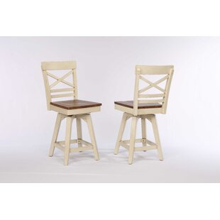 Yvonne X Back 2 Tone Counter Dining Chair (Set of 2) by Gracie Oaks